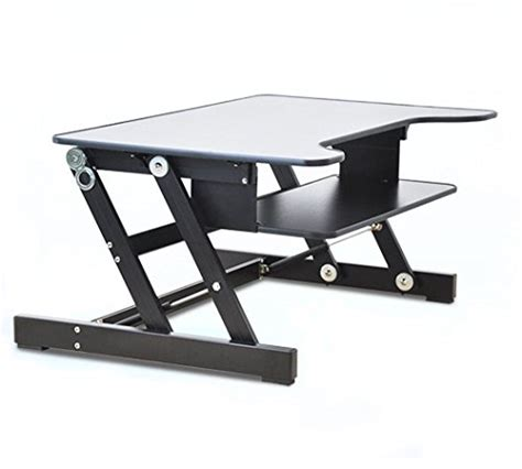 adjustable desktop standing desk smonet healthy sit stand desktop computer workstation