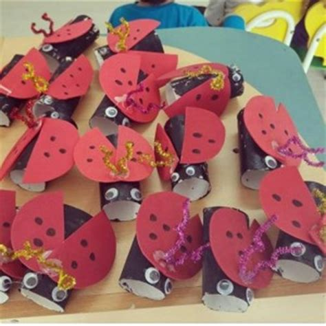 ladybug toilet paper roll craft craft idea for crafts and worksheets for