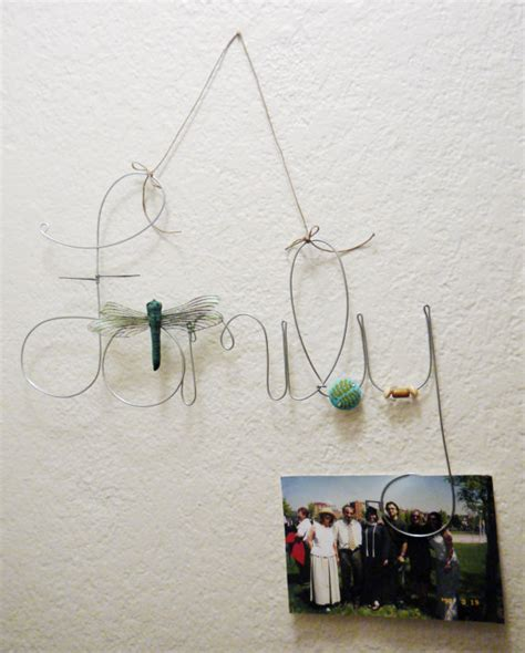 photo hanging wire items similar to hanging family wire word photo holder