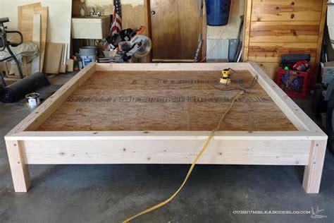 how to make a king bed frame master bedroom