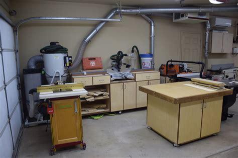 garage woodworking shop ideas woodshop layout ideas