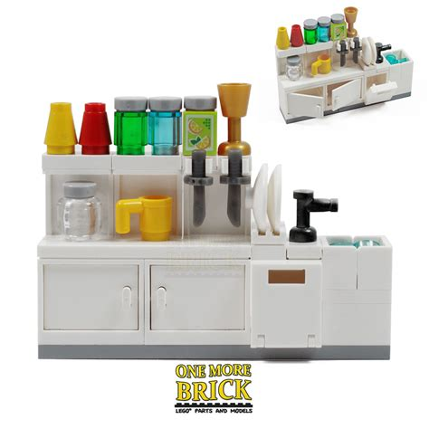 lego kitchen sink cabinets utensils and accessories