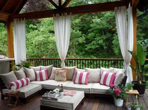 outdoor patio decorating ideas outdoor curtains for porch and patio designs 22 summer decorating ideas
