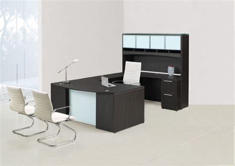 glass u shaped desk glass u shaped desk chiarezza bow front u shaped desk