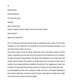 sample business invitation letter 9 download free