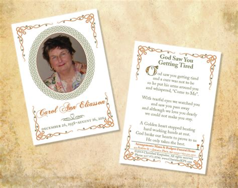 how to make a memorial card 15 funeral card templates free psd ai eps format