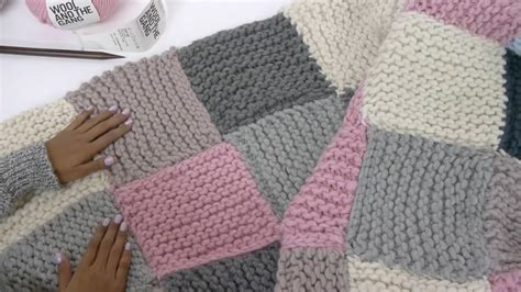 knitting blanket pattern how to knit a patchwork blanket with pictures wikihow