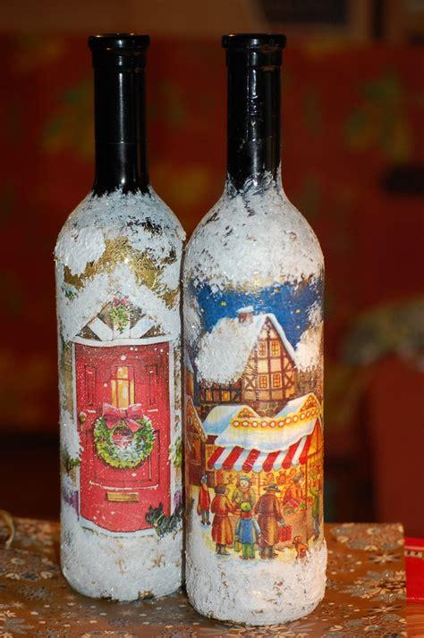 decoupage bottles decoupage wine bottle decoupage