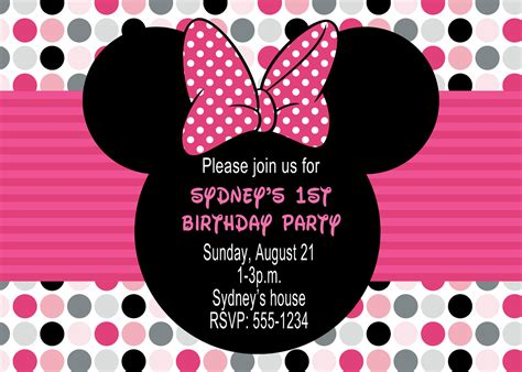 how to make minnie mouse invitation cards minnie mouse birthday invitations drevio