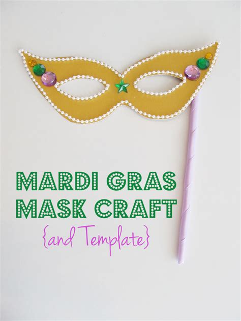 mardi gras crafts for mardi gras mask craft and template woo jr