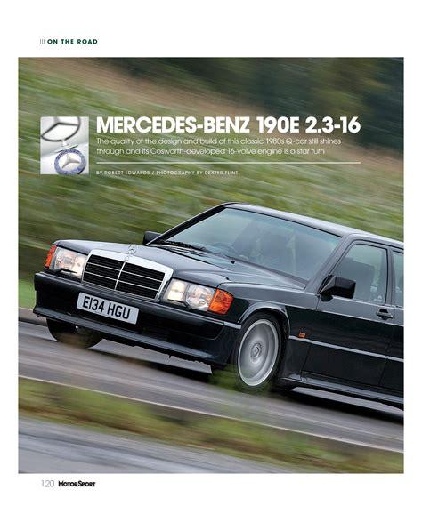 Mercedes Magazine by Mercedes 190e 2 3 16 Motor Sport Magazine Archive