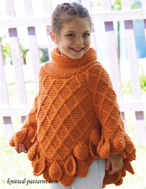 free knitted poncho patterns poncho pullover knitting pattern free