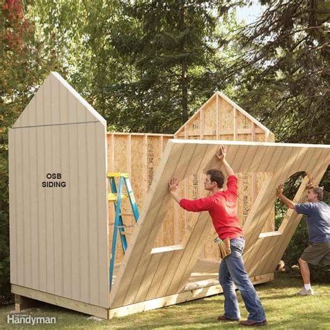 outdoor storage buildings plans shed plans storage shed plans the family handyman