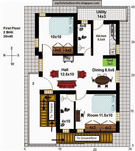 house plans for 30x40 site 30 x 40 2 bhk plan studio design gallery best design