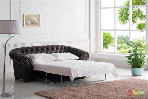 brown leather sleeper sofa tufted sleeper sofa italian leather sleeper sofa