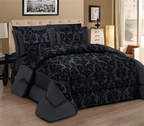 luxury 3pcs flock quilted bed spread bedspread comforter