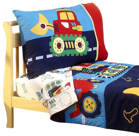 toddler bedding set for construction toddler bedding set bulldozer bed