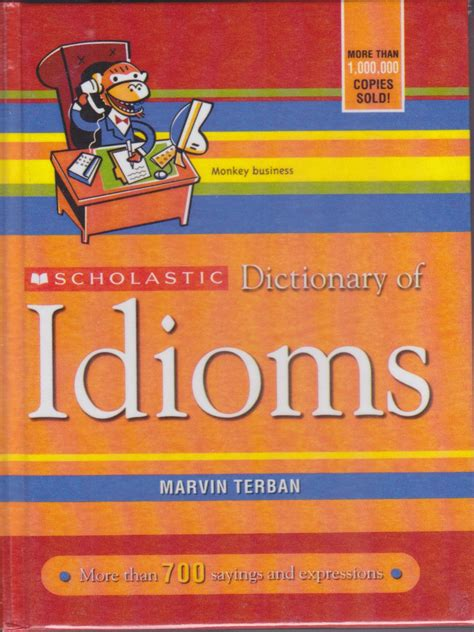 picture books with idioms books cat eared scholastic dictionary of idioms