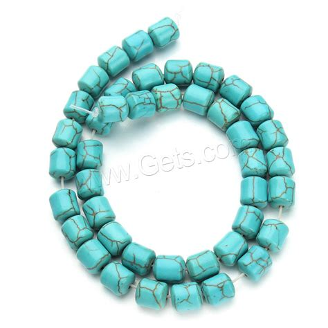 synthetic turquoise synthetic turquoise column blue 8 5x9 5mm gets