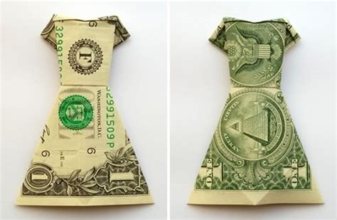 money origami wedding money origami dress folding with photos