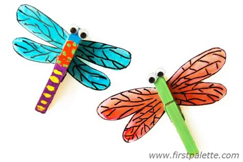 dragonfly paper craft clothespin dragonfly craft crafts firstpalette