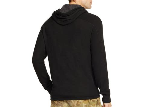 ralph waffle knit hoodie polo ralph duofold waffle knit hoodie in black for