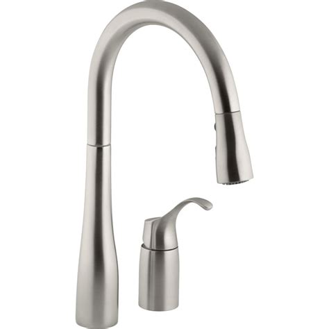 kholer kitchen faucets kohler k 647 vs simplice vibrant stainless steel pullout spray kitchen faucets efaucets