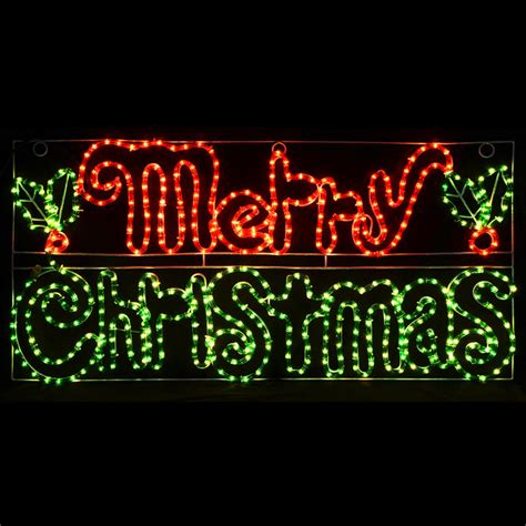 merry light display merry mains voltage festive rope light sign