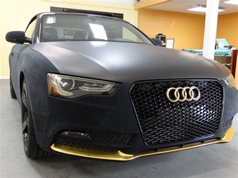 Suede Wrap Car by Audi A4 Convertible Black Suede Wrap With Chrome Gold