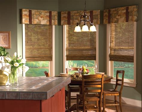 curtains for kitchen bay windows the ideas of kitchen bay window treatments theydesign