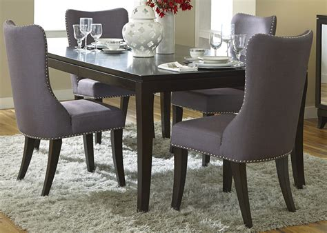 dining room sets with fabric chairs grey upholstered dining chairs decofurnish