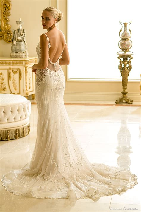 wedding dress beaded back amalia carrara 2016 wedding dresses wedding inspirasi