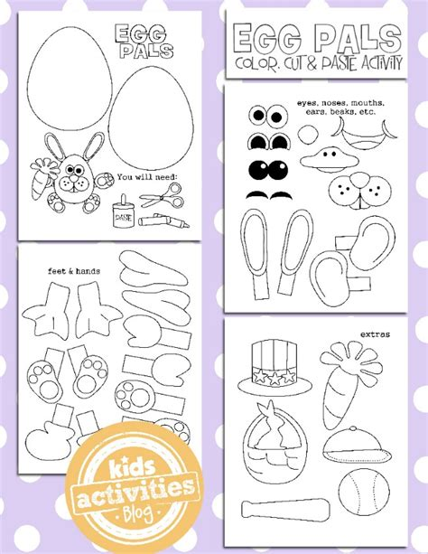 printable easter crafts for free easter egg coloring pages free homeschool deals