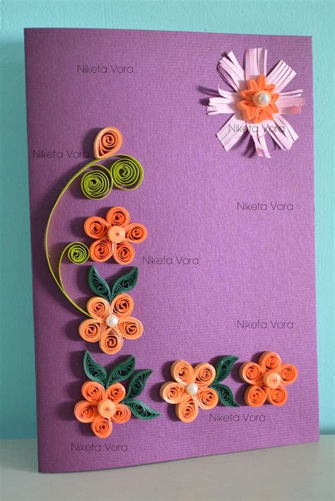 paper greeting cards niketa s creative corner paper quilling greeting card