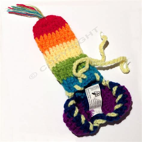 how to knit a willie warmer mens knitted animal willy warmer pouch