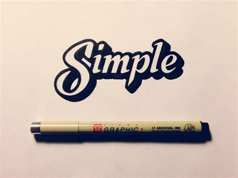 simple for simple lettering by seanwes