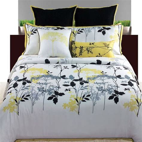 yellow and white bedding sets
