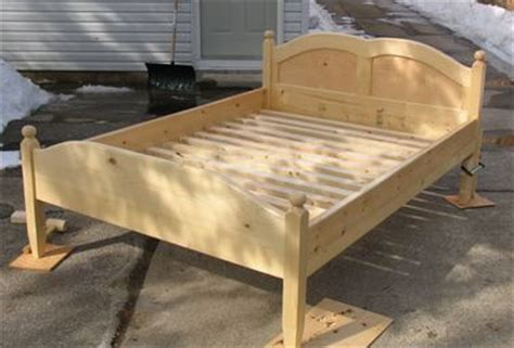 wood bed frame construction woodwork wood bed frame construction pdf plans