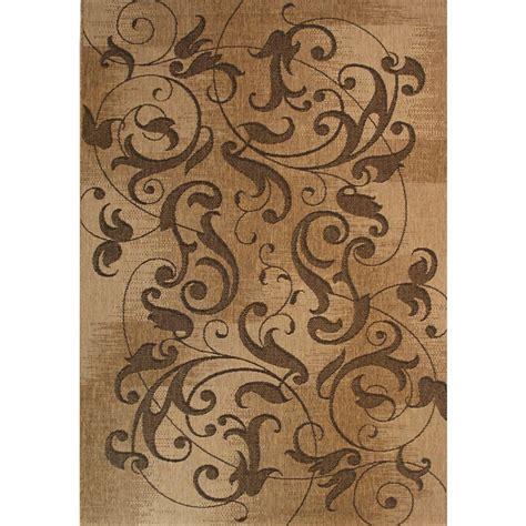 8x10 outdoor area rugs shop kannapolis chestnut rectangular indoor outdoor