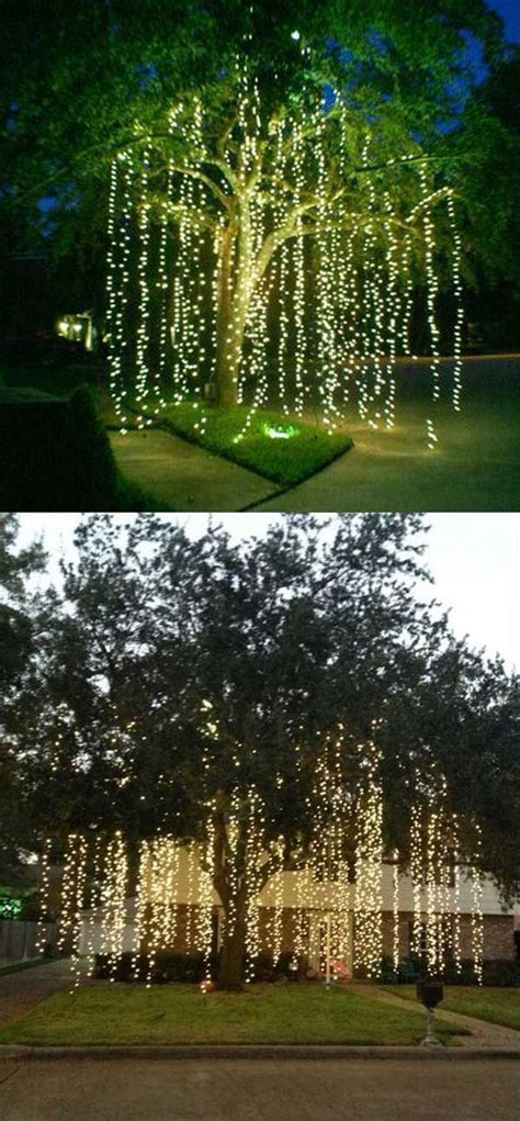 how to decorate your house for outside lights 25 best ideas about outdoor tree decorations on