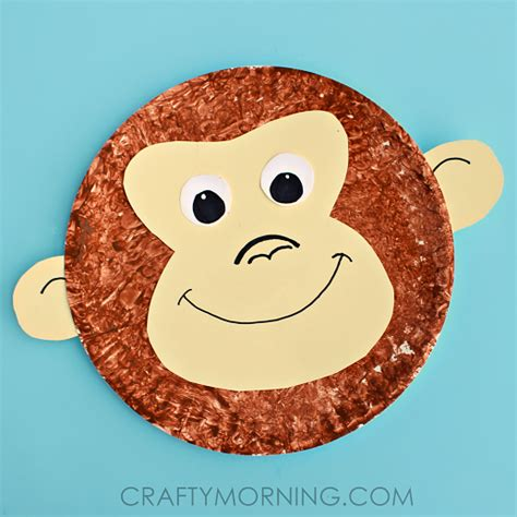 Paper Plate Monkey Craft Idea Crafty Morning