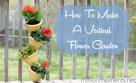 how to make a vertical flower garden