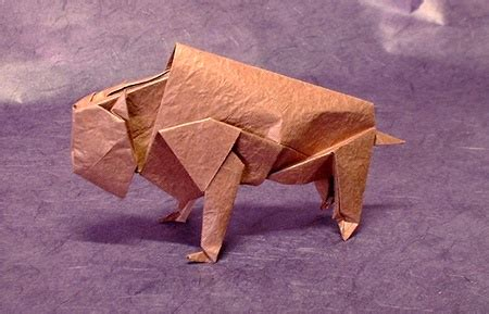 origami bison cow montroll gilad s origami page