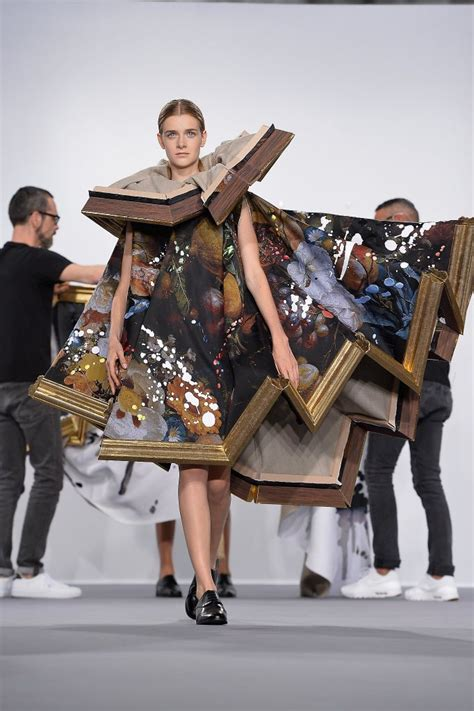 the painting fashion show mercedes fashion week brings looks and