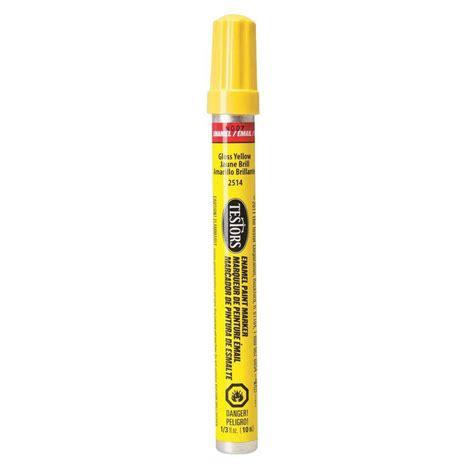 home depot paint pen testors yellow gloss enamel paint marker 6 pack 2514c