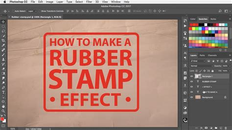 rubber st effect in photoshop how to make a rubber st effect in photoshop