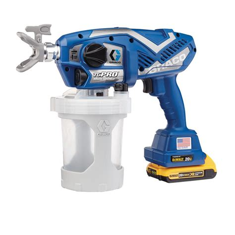 home depot pro paint sprayer rental graco tc pro cordless airless paint sprayer 17n166 the