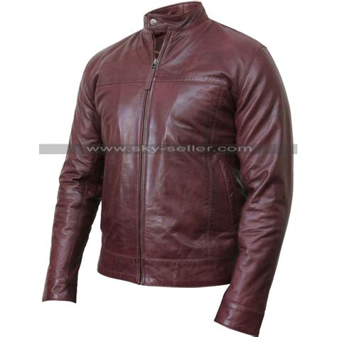 real leather jackets mens s real leather burgundy bomber motorcycle jacket