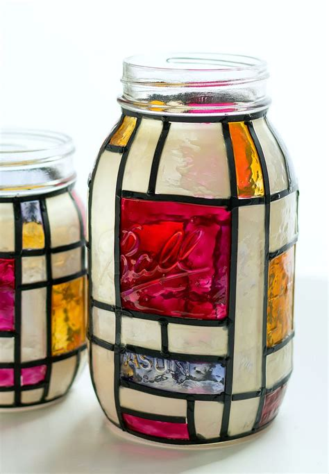 glass jar crafts for best 25 glass paint ideas on diy wine glasses