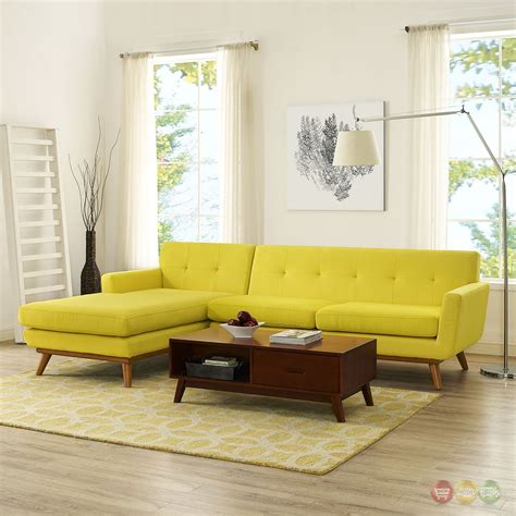 left facing sectional sofa engage left facing button tufted sectional sofa with wood